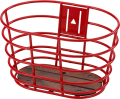 "28"" Norden basket red with wooden bottom"