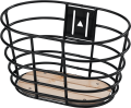 "20""-24"" Norden basket black with wooden bottom"