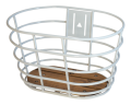 "28"" Grey Norden Basket With Wood bottom"