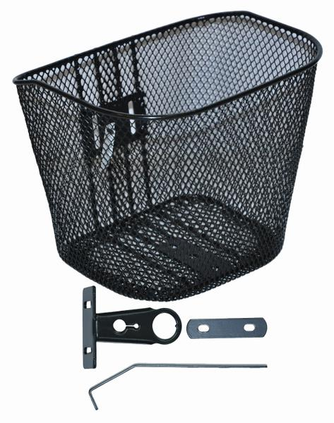 "Mesh basket front 16-20"" black"