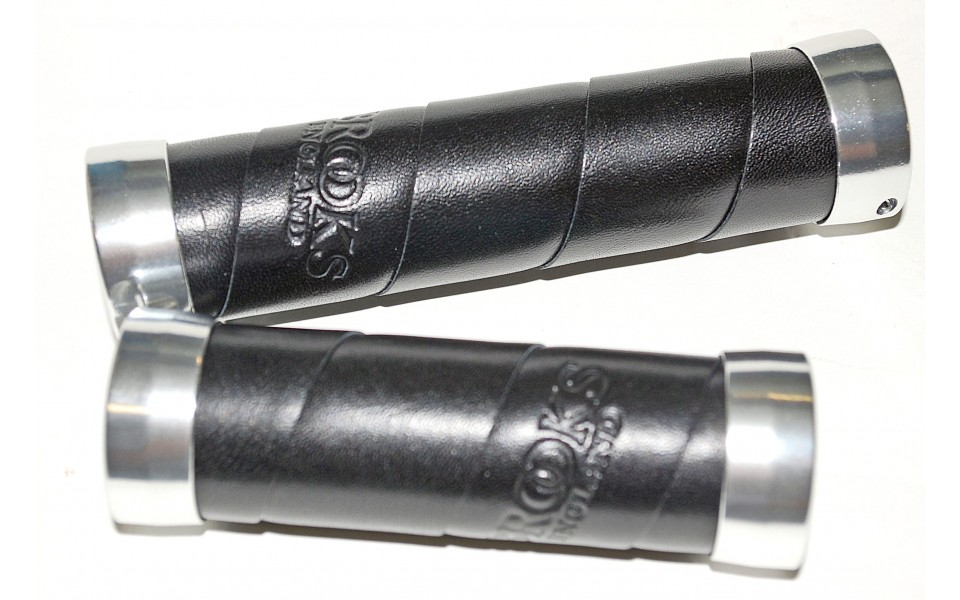 a57fab0301 Brooks Slender leather grips in black for turning lever - 63,66€ :  Cyclebrother.com - Cyclebrother.com
